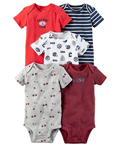 Beige Costumes Prison (Pack of 5PCS Newborn Baby Girls' Short Sleeve/Sling Round Neck Romper Cotton Fashion)