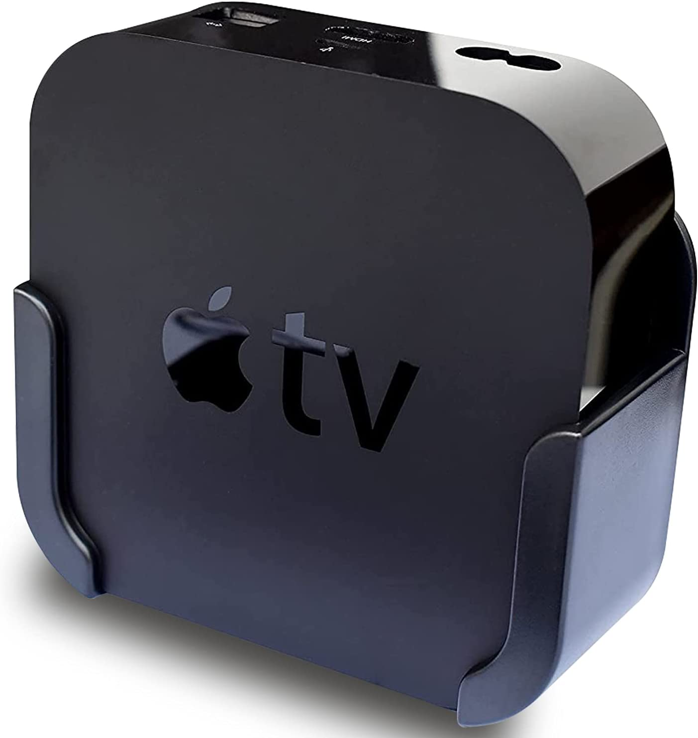 Apple TV Mount,Wall Mount Holder for Apple TV 4th/4k and Apple TV HD,Easy to Install(Compatible with Apple TV 4K and Apple TV HD)