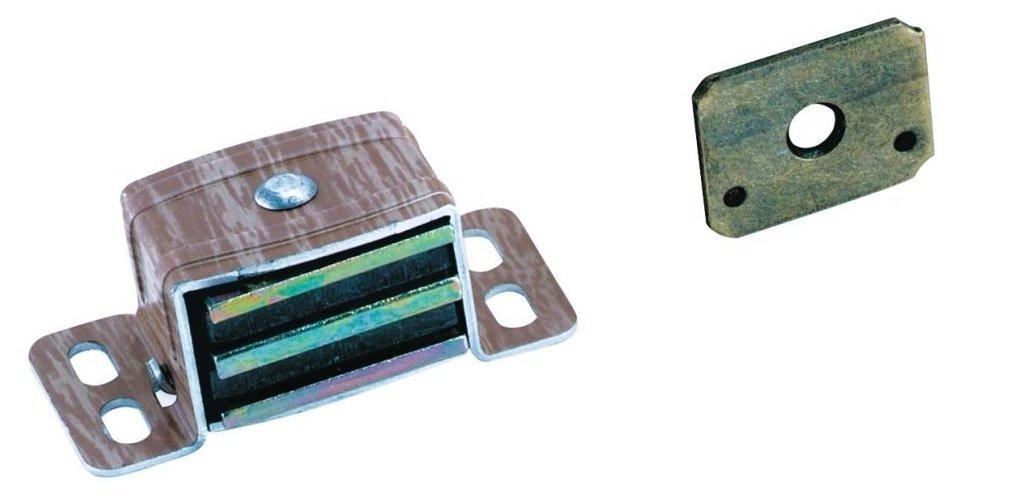 Amerock Magnetic Catch 13/16'' H X 1''W X 2'' L Full Aluminum / Wood 19 Lb Card 2