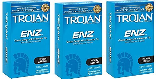 Trojan Condom, ENZ Lubricated (36 Count) by Trojan
