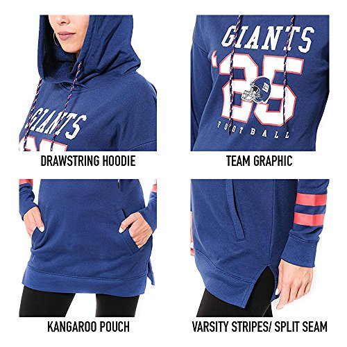separation shoes 7b39e a79b5 Icer Brands NFL Women's Tunic Hoodie Pullover Sweatshirt ...
