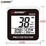 SNDWAY SW-825 Portable Digital PM2.5 PM10 Detector Meter, Temperature, Humidity Air Quality Meter with Alarm Function