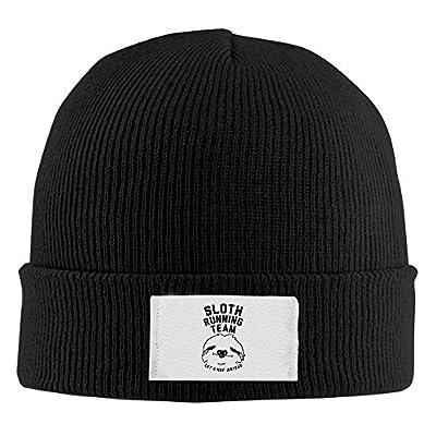 Sloth Running Team Winter Beanie Hats Black Knit Caps - Sloth Beanie