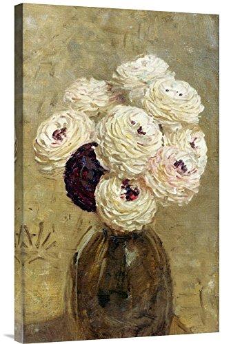 Global Gallery Budget GCS-266901-30-142 Albert Joseph Moore A Vase of Dahlias Gallery Wrap Giclee on Canvas Wall Art Print