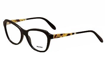 miu miu eyeglasses womens vmu01na vmu01na 1ab 1o1 black optical frame 54mm - Miu Miu Optical Frames