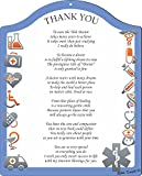 Rikki Knight Thank You Doctor - Medical Symbols Touching 8x10 Poem Plaque with Arch Top