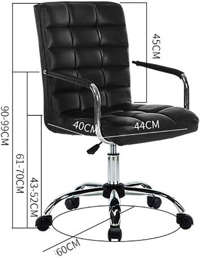 WCURT, Travail Bureau Salle de réunion Ordinateur étude Chambre Chambre Chaise de Jeu, Chaise pivotante à 360 ° réglable en Hauteur, Chaise Ergonomique, Noir Blanc-Color White