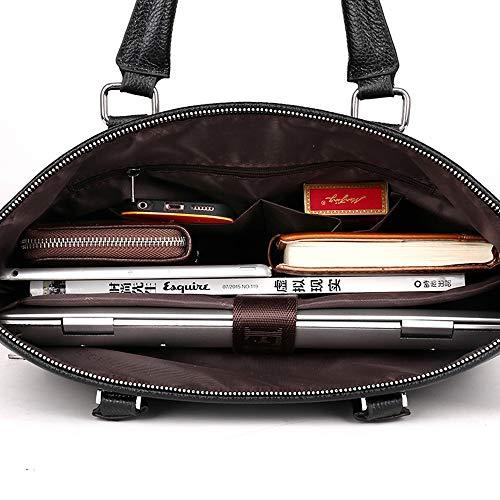 Fhgj Bags Black Zipper polyurethane Men's Briefcase Brown Pu brown rFxBwrqUC