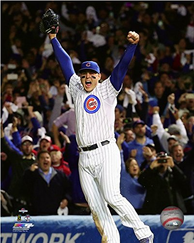 (Anthony Rizzo Chicago Cubs 2015 NLDS Celebration Photo (Size: 8