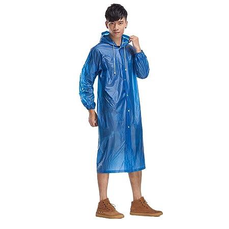 für Chengzuoqing Regenjacke Haltbarer Herren PVC Regenmantel 9D2eHYbWEI