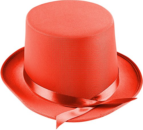 Adults Tap Dancer Magician Red Fabric Top Hat Costume (Tap Dancer Halloween Costumes)