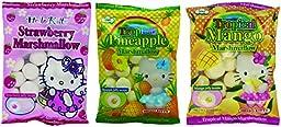 Hello Kitty Marshmallow, 3.1 oz x 3 packs, 1 Strawberry, 1 Mango & 1 Pineapple