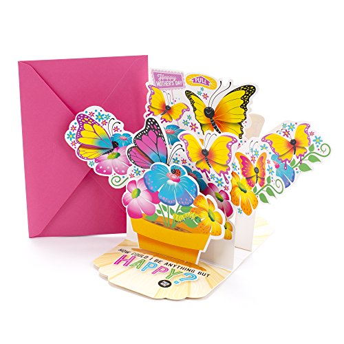 Hallmark Mother's Day Greeting Card with Song for mom (Pot of Butterflies Pop-Up, Plays Happy by Pharrell Williams) (Button Day Happy Mothers)