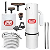 Ultra Clean Central Vacuum Unit 7,500 sq. ft. with 30' Hose Cleaning Attachment Set