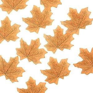 CoronationSun - Artificial Foliage - 50pcs 8cm Artificial Silk Maple Leaves for Wedding Party Decoration Accessories Scrapbooking Fake Flower 37