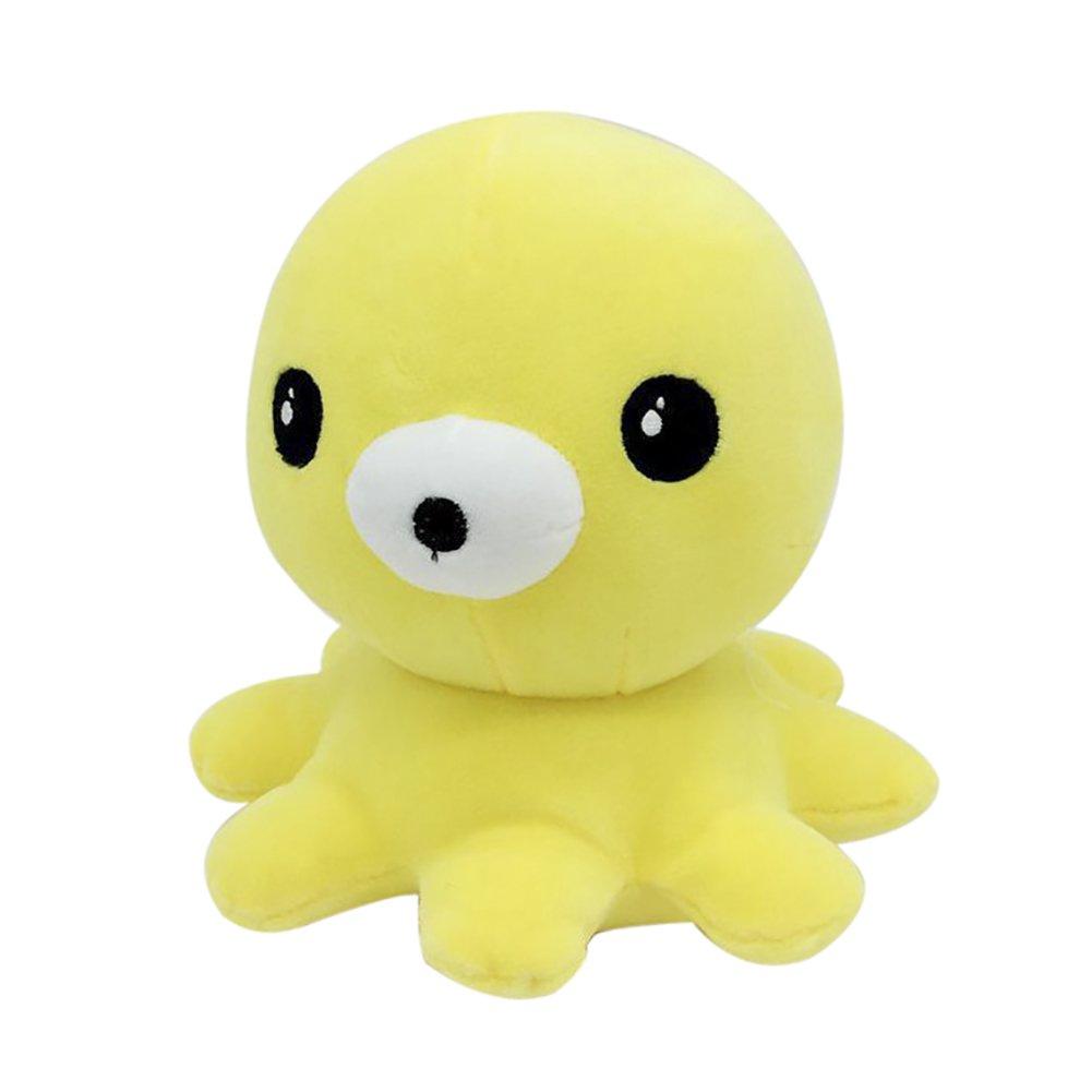 funifキュートスロー枕ホームオフィスソファ装飾バッククッション人形ギフトStuffed Plush Toys For Kids Octopus イエロー B07CCKFBQX  イエロー Octopus