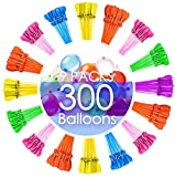 FEECHAGIER Water Balloons for Instant 100 Self-Sealing Water Balloons Complete Gift Set Bundle, 3 Piece (300 Balloons Total) A2