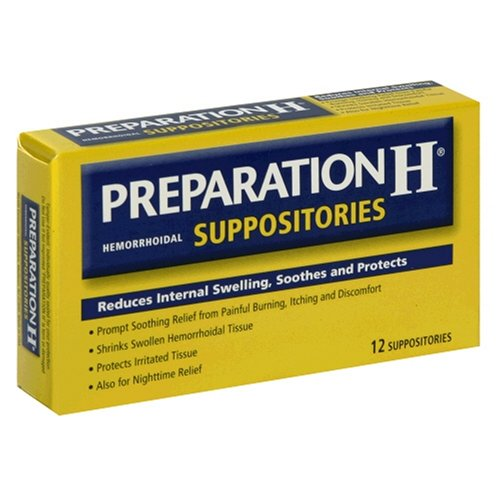 Préparation H hémorroïdaires suppositoires, 12 ct