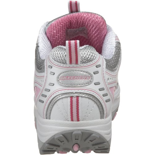 Skechers Mujeres Shape Ups Incites Zapato Para Andar Fitness Blanco / Plateado / Rosa