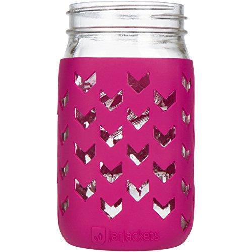JarJackets Silicone Mason Jar Sleeve - Fits 32oz (1 quart) WIDE-Mouth Jars ... (1, Sangria)