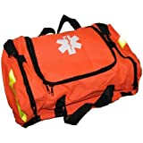 Ever Ready First Aid Large EMT First Responder Trauma Bag, Orange