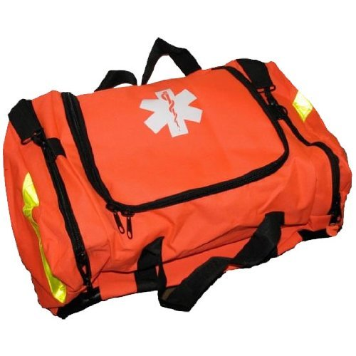 Ever Ready First Aid Large EMT First Responder Trauma Bag Orange