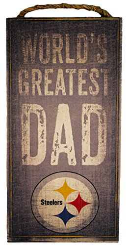 NFL Pittsburgh Steelers 6x12 'Worlds' Greatest Dad' Wooden Sign