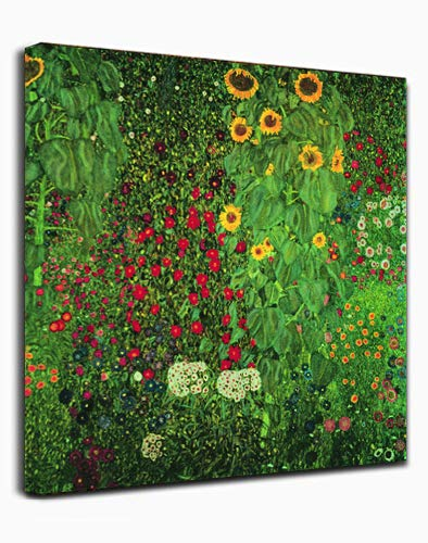 Canvas Wall Art -Sunflowers by Gustav Klimt - Classic Art Wall Decor Giclee Print Reproductions Painting Modern Home Decor Ready to Hang ()