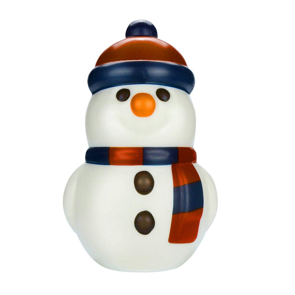 Prevently New Creative Squishies Kawaii Christmas Snowman Scented Squishy Slow Rising Squeeze Strap Kids Toy Gift (B)