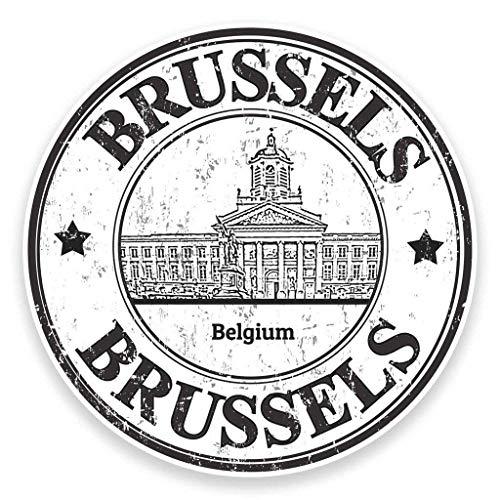 "Brussels Belgium Vinyl Sticker Decal Laptop Car Bumper Sticker Travel Luggage Car iPad Sign Fun 5"""