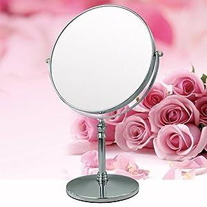 delicate Mirror/Desktop size cosmetic mirror/Two-sided magnified mirror/[European princess mirror]/ HD portable mirror-A