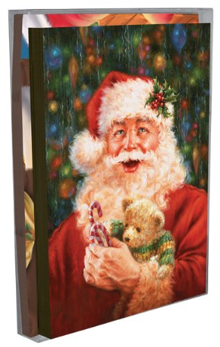 Tree-Free Greetings Magical Santa Holiday Boxed Cards, 5 x 7 Inches, 12 Cards and Envelopes per Set, Multi-Color (91178) ()