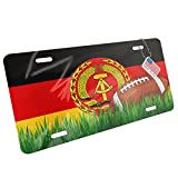 Metal License Plate Football with Flag National Peoples Army (NPA) - Neonblond