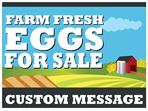 Coroplast Custom Signs Yard - CUSTOM Farm Fresh Eggs For Sale 18x24