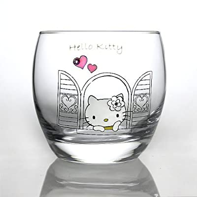 Hello Kitty/ 40th Anniversary Hozue (Lost in Thought) Rock Glass