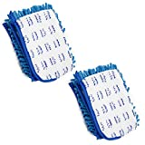 JINCLEAN 2 Packs Refill of 18'' Microfiber Floor Mop Dual Side Different Action Microfiber Dust Mop Dry to Attract dirt, dust, hair and pet hair Or Damp for a Deeper Clean, Refill Pad size : 18'' x 6''