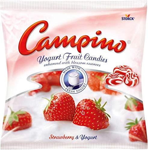 Campino Yogurt & Fruit Hard Candies - Strawberry - (120g/4.2oz) (Creme Savers Hard Candy Strawberry & Cream)