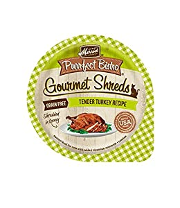 well-wreapped Merrick Purrfect Bistro Turkey Shreds Cat Cans, 3.5oz (12 trays in a case)