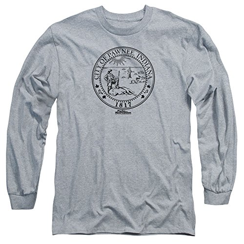 Parks And Recreation Comedy Series City Of Pawnee Seal Adult Long-Sleeve T-Shirt