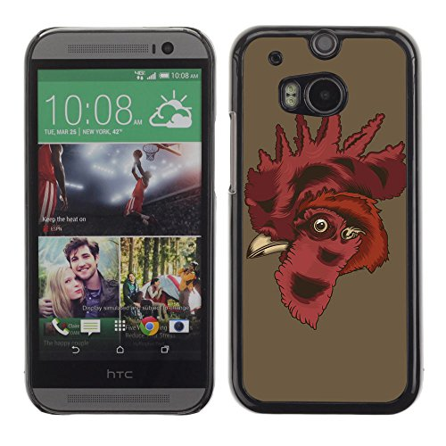Unique Cartoon Phone Case For Htc One M8 (Black) - 8