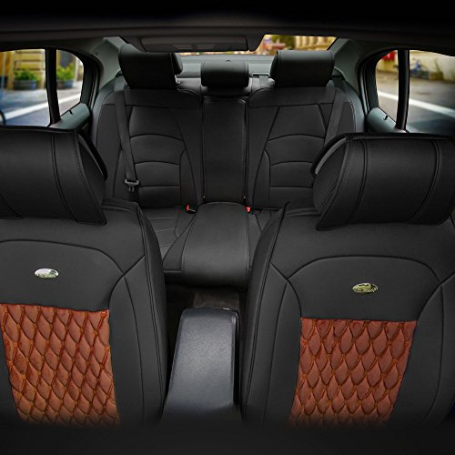FH Group PU204115 Victorian Style Luxurious Leather Cushion Pad Full Set Seat...