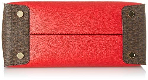 MICHAEL by Michael Kors Mercer Rojo Large Bolso Rojo (Bright Red)
