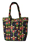 Stephanie Dawn Large Square Bottom Tote – Bloom Dance * USA New Handbag Quilted 10001-012, Bags Central