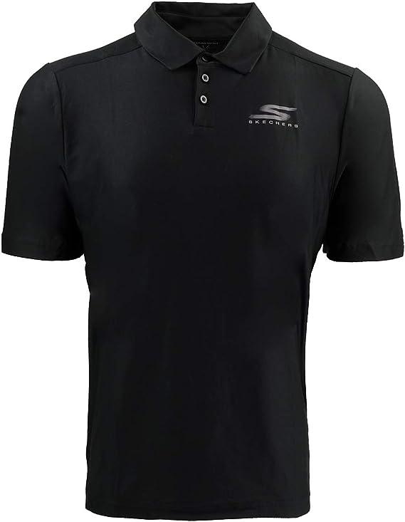Skechers Men's Go Golf Pine Valley S Polo - Black - Medium ...