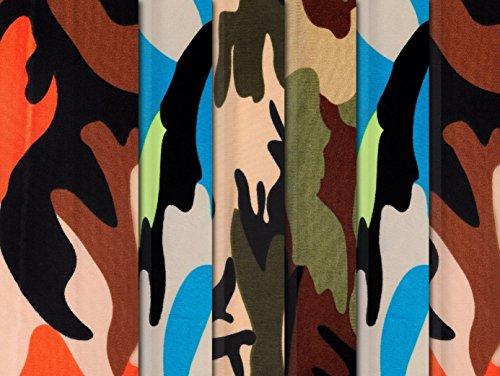 ttern Leopard Print Camo Hair Ties Bandana Babies Kids Boys Girls ()