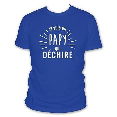 172513888fda0 L'abricot blanc Shirt Humour Je suis Un Papy Qui Déchire - Fête de Pères:  Amazon.fr: Vêtements et accessoires