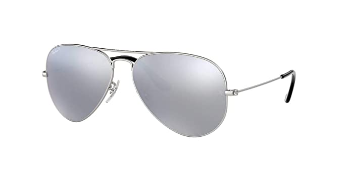 6f12968f28932 Image Unavailable. Image not available for. Color  Ray-Ban Original Aviator  Sunglasses (RB3025) Silver Matte Silver Metal - Polarized