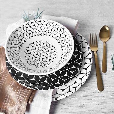 12-Piece Strata Melamine Dinnerware Set