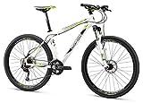 Mongoose Men's TYAX Expert Mountain Bicycle, White, 18″/Medium/27.5″ Review