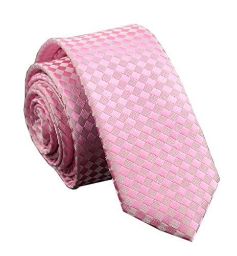 Sale Pink Ties - Men Blush Pink Silk Tie Narrow Elegant Fashion Style Stunning Wedding uk Necktie